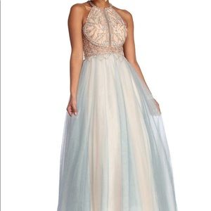 Windsor Dresses - SHAUNA BEADED TULLE BALL GOWN